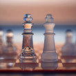 Chess Kings - as business concept series - competition, merge, s — Stock Photo