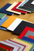 Art and Craft materials - Focusing on arts and crafts - Color Samples / Tiles. — Stock Photo