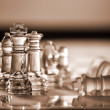Chess pieces - business concept series: compete, strategy, leade — Stock Photo