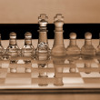 Chess pieces - business concept series: strategy, merger, leader — Stock Photo