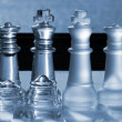 Chess Pieces - business concept series: strategy, company, merge — Stock Photo