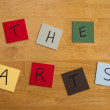 Stock Photo: THE ARTS written on color tiles - Culture, Art, Editorial, Schools