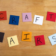 'Craft Fairs' on color tiles for Arts and Crafts, Home Business, Second Income - Stock Photo