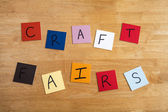 'Craft Fairs' on color tiles for Arts and Crafts, Home Business, Second Income — Stock Photo