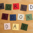 'WORLD BOOK DAY' as a sign for Education, Reading, Books, and Schools. - Stock Photo