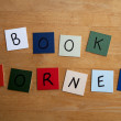 BOOK CORNER sign for Schools, Education, Libraries, — Стоковая фотография