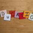 EDUCATION as sign for Teaching, Educational, Schools, Editorial. - Stock Photo