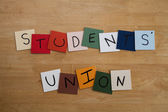 STUDENTS' UNION' sign / poster for Education, Teaching, College, Editorial. — Stock Photo