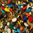 Stock Photo: Background Texture Abstract - random pattern of colored drawing pins or thumb tacks or push pins!