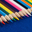 Color Pencil Crayons for Art and Crafts, or Education - Wide Pan - Stock Photo