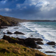 Seascape  Landscape - Cornish ocean waves and surf - Cornwall. - Stock Photo