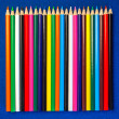 Color Pencil Crayons for Art, Arts and Crafts, Schools, Teaching - Stock Photo