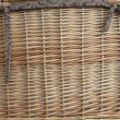 Wicker Basket Weave Background Texture. - Stock Photo