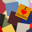I love chocolate - for food & drink, dieting, & chocolate lovers everywhere! — Stockfoto