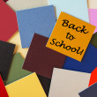 Back to School. Sign Series for Education in letters & words. — Stock Photo