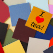 I love tea - for food & drink, office, home, & tea lovers everywhere! — Foto Stock