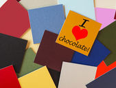 I love chocolate - for food & drink, dieting, & chocolate lovers everywhere! — Stock Photo