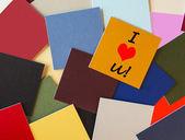 Ik hou van je - business, office post het teken - kantoor romantiek! — Stockfoto