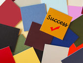 Success! - Sign as Business Concept Series, Exam or Interviews — Stock Photo