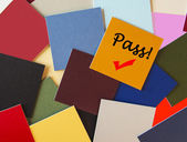 Pass! Success, Succeed - Sign for Business Concept Series, Exams or Interviews. — Stock Photo