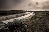 Marshes & Crab Pot Fishing - Lincolnshire, England — Stock Photo