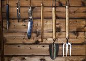 The Gardener's Potting Shed - Garden Tools. — Foto Stock