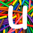 Stock Photo: Letter U. Alphabet for education, schools, teaching.