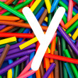 Stock Photo: Letter Y. Alphabet for education, schools, teaching.