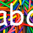 Stock Photo: ABC letters. Alphabet for education, schools, teaching.