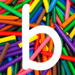 Stock Photo: Letter B. Alphabet for education, schools, teaching.