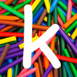 Letter K. Alphabet for education, schools, teaching. — Stock Photo