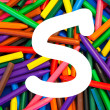 Stock Photo: Letter S. Alphabet for education, schools, teaching.