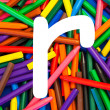 Stock Photo: Letter R. Alphabet for education, schools, teaching.
