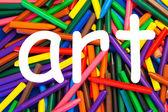 Konsten som ett ord för utbildning, skolor, undervisning. — Stockfoto
