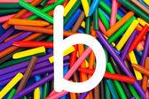 Letter B. Alphabet for education, schools, teaching. — Stock Photo