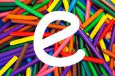 Brief e. alfabet voor onderwijs, scholen, onderwijs. — Stockfoto
