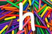 Letter H. Alphabet for education, schools, teaching. — Stock Photo