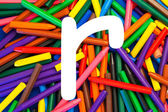 Letter R. Alphabet for education, schools, teaching. — Stock Photo