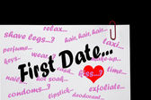 First Date - Relationships. — Foto Stock