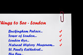 London Landmarks Checklist. — Foto Stock