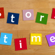 Story time words for school children. — Stock Photo