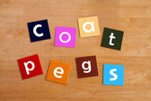 Coat pegs - For Education & Schools — Stock Photo