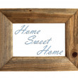 Stock Photo: Home Sweet Home Picture Frame - Blue - Isolated on White.