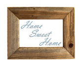 Home Sweet Home Picture Frame - Blue - Isolated on White. — Stock Photo