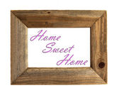 Home Sweet Home Picture Frame - Pink - Isolated on White. — Stock Photo