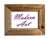 现代艺术画框 — 图库照片
