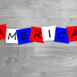 America in words. — Stock Photo