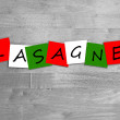 Lasagne - Italian cuisine sign — Stock Photo