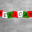 Mexican sign — Stock Photo