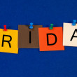 Friday - day of the week series — Stock Photo